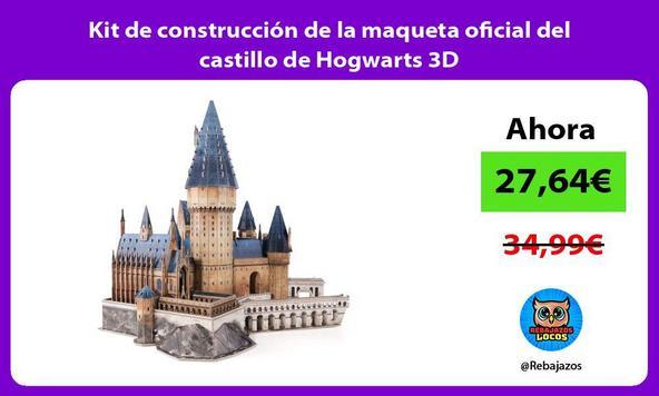 Kit de construcción de la maqueta oficial del castillo de Hogwarts 3D