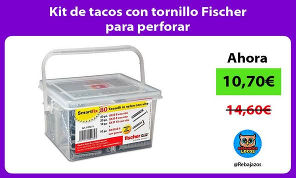 Kit de tacos con tornillo Fischer para perforar