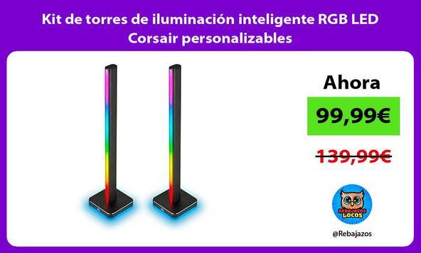 Kit de torres de iluminación inteligente RGB LED Corsair personalizables