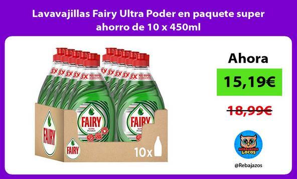 Lavavajillas Fairy Ultra Poder en paquete super ahorro de 10 x 450ml