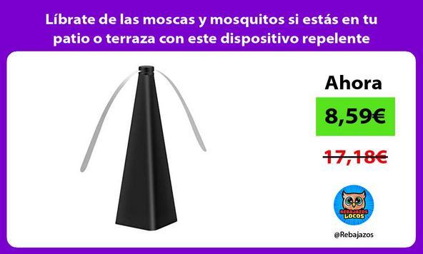Líbrate de las moscas y mosquitos si estás en tu patio o terraza con este dispositivo repelente/