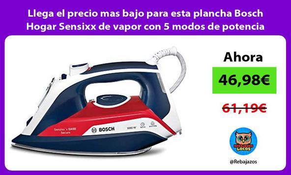 Llega el precio mas bajo para esta plancha Bosch Hogar Sensixx de vapor con 5 modos de potencia