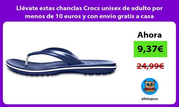 Llévate estas chanclas Crocs unisex de adulto por menos de 10 euros y con envío gratis a casa