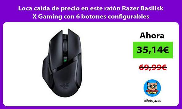 Loca caída de precio en este ratón Razer Basilisk X Gaming con 6 botones configurables