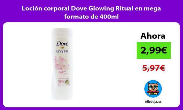 Loción corporal Dove Glowing Ritual en mega formato de 400ml
