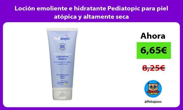 Loción emoliente e hidratante Pediatopic para piel atópica y altamente seca