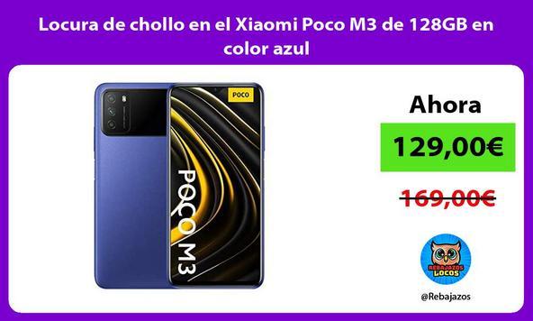 Locura de chollo en el Xiaomi Poco M3 de 128GB en color azul