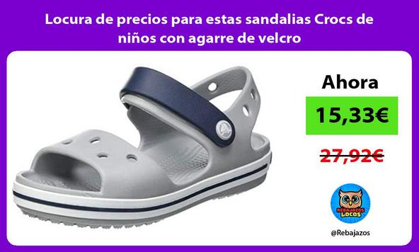 Locura de precios para estas sandalias Crocs de niños con agarre de velcro
