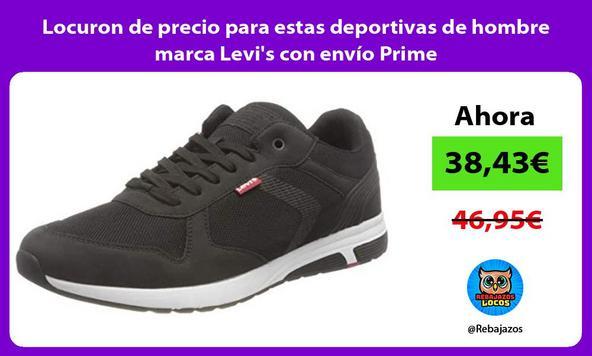 Locuron de precio para estas deportivas de hombre marca Levi's con envío Prime