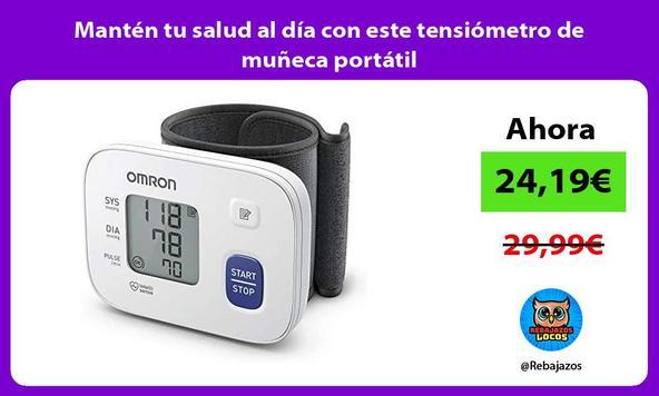 Mantén tu salud al día con este tensiómetro de muñeca portátil