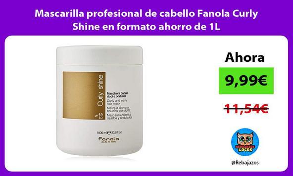 Mascarilla profesional de cabello Fanola Curly Shine en formato ahorro de 1L