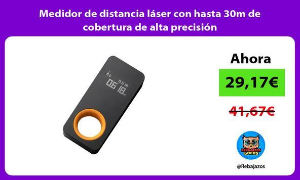 Medidor de distancia láser con hasta 30m de cobertura de alta precisión