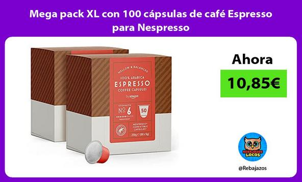 Mega pack XL con 100 cápsulas de café Espresso para Nespresso