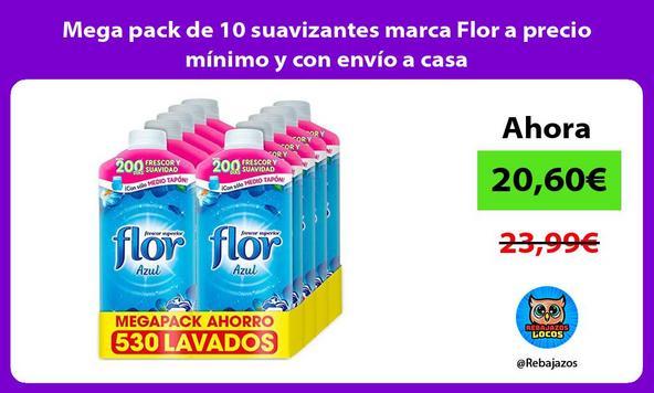 Mega pack de 10 suavizantes marca Flor a precio mínimo y con envío a casa