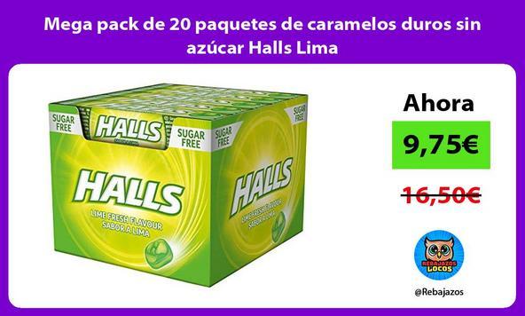 Mega pack de 20 paquetes de caramelos duros sin azúcar Halls Lima
