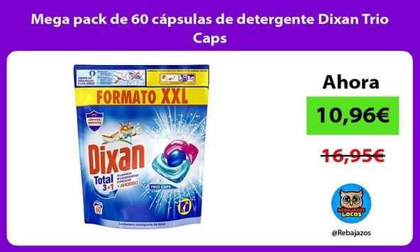 Mega pack de 60 cápsulas de detergente Dixan Trio Caps