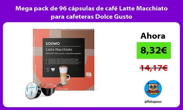 Mega pack de 96 cápsulas de café Latte Macchiato para cafeteras Dolce Gusto