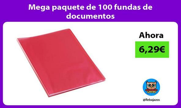 Mega paquete de 100 fundas de documentos