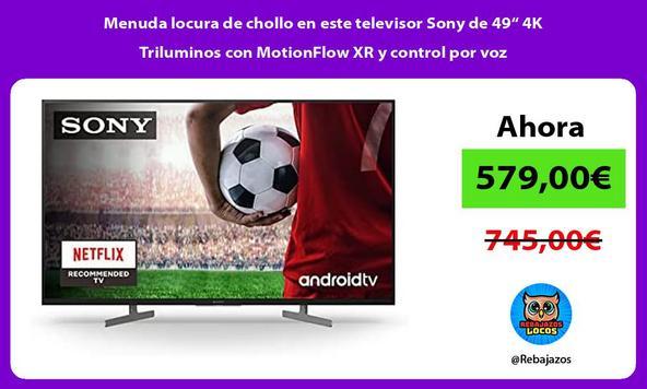 """Menuda locura de chollo en este televisor Sony de 49"""" 4K Triluminos con MotionFlow XR y control por voz"""