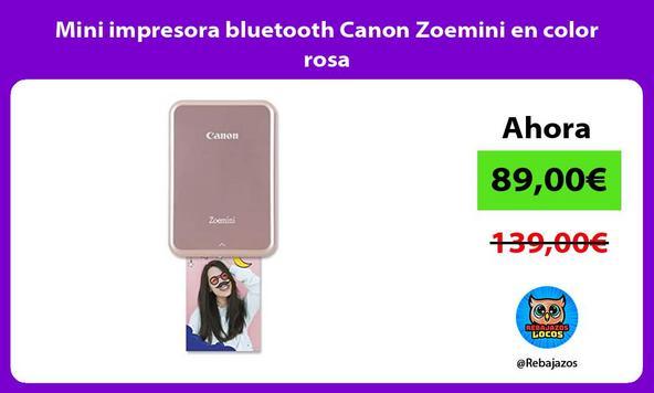 Mini impresora bluetooth Canon Zoemini en color rosa