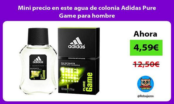 Mini precio en este agua de colonia Adidas Pure Game para hombre