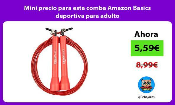 Mini precio para esta comba Amazon Basics deportiva para adulto