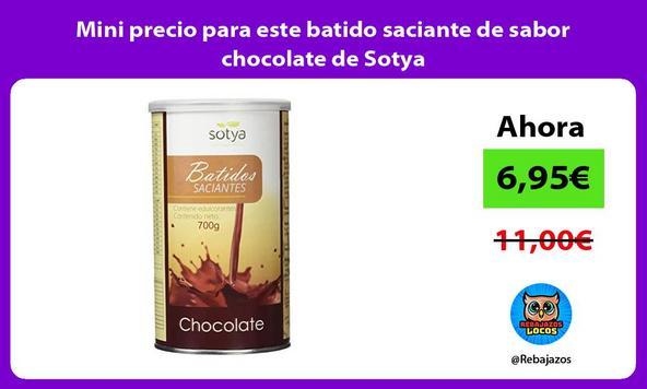 Mini precio para este batido saciante de sabor chocolate de Sotya