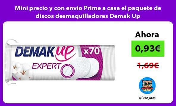Mini precio y con envío Prime a casa el paquete de discos desmaquilladores Demak Up