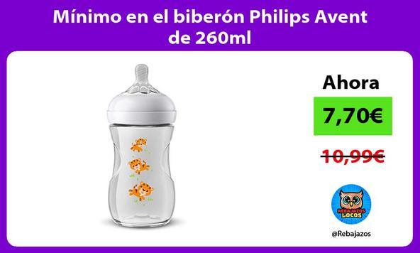 Mínimo en el biberón Philips Avent de 260ml