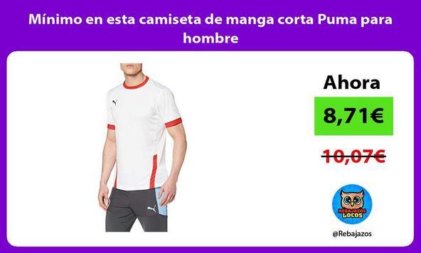 Mínimo en esta camiseta de manga corta Puma para hombre