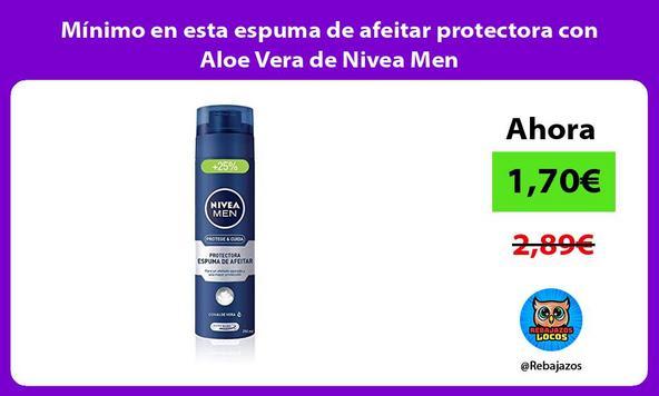Mínimo en esta espuma de afeitar protectora con Aloe Vera de Nivea Men/