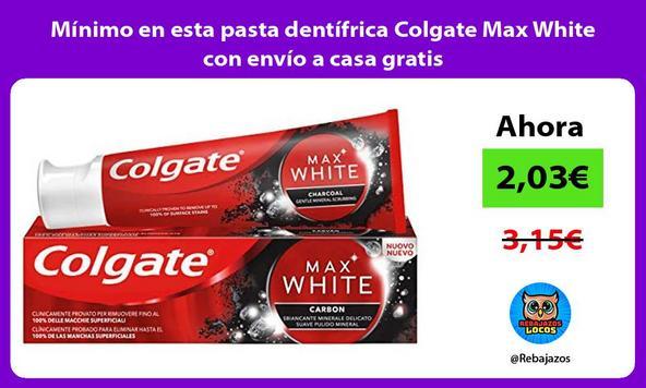 Mínimo en esta pasta dentífrica Colgate Max White con envío a casa gratis