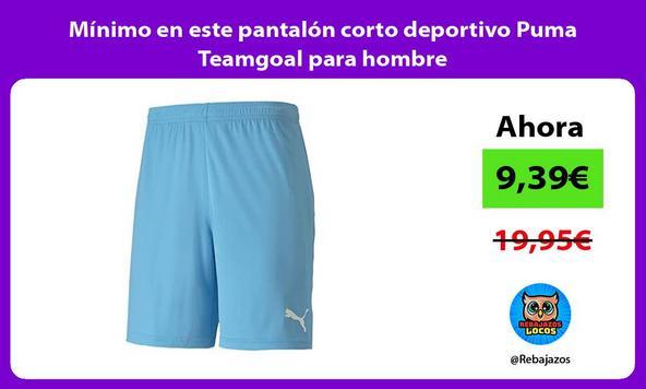 Mínimo en este pantalón corto deportivo Puma Teamgoal para hombre