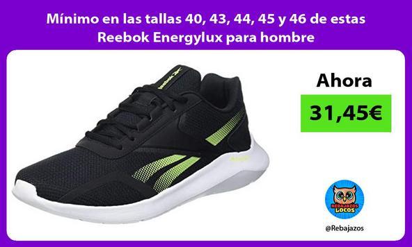 Mínimo en las tallas 40, 43, 44, 45 y 46 de estas Reebok Energylux para hombre