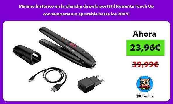 Mínimo histórico en la plancha de pelo portátil Rowenta Touch Up con temperatura ajustable hasta los 200°C/