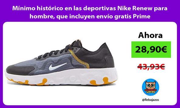 Mínimo histórico en las deportivas Nike Renew para hombre, que incluyen envío gratis Prime
