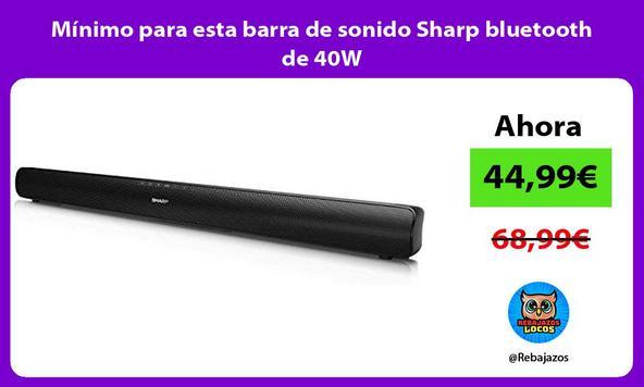 Mínimo para esta barra de sonido Sharp bluetooth de 40W