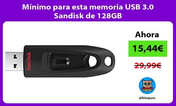 Mínimo para esta memoria USB 3.0 Sandisk de 128GB