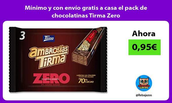 Mínimo y con envío gratis a casa el pack de chocolatinas Tirma Zero
