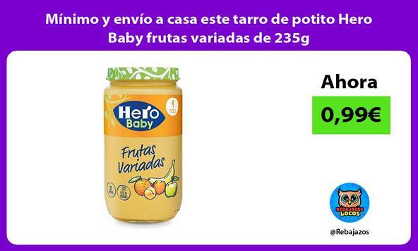Mínimo y envío a casa este tarro de potito Hero Baby frutas variadas de 235g