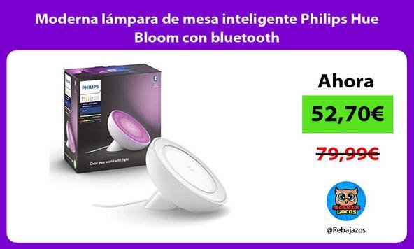Moderna lámpara de mesa inteligente Philips Hue Bloom con bluetooth