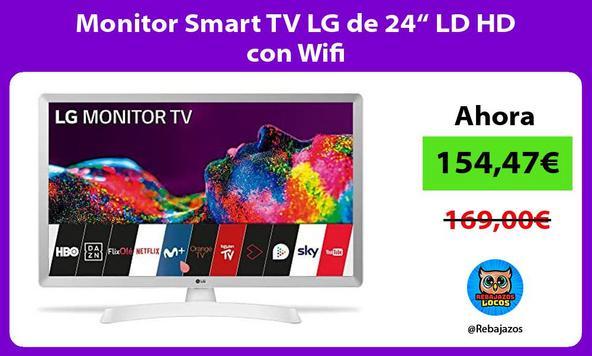 """Monitor Smart TV LG de 24"""" LD HD con Wifi"""