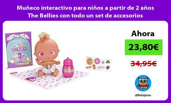 Muñeco interactivo para niños a partir de 2 años The Bellies con todo un set de accesorios