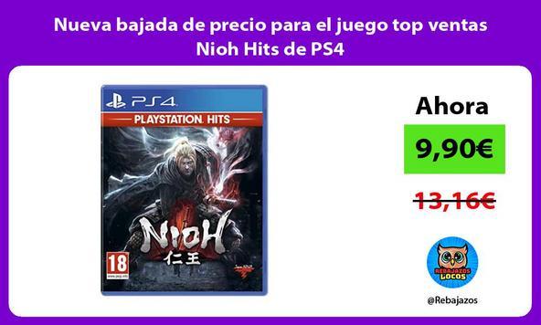 Nueva bajada de precio para el juego top ventas Nioh Hits de PS4