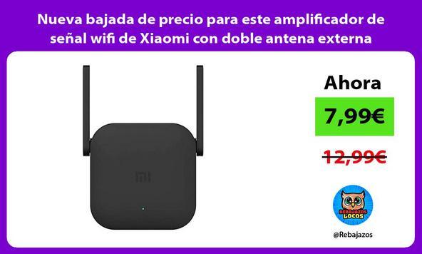 Nueva bajada de precio para este amplificador de señal wifi de Xiaomi con doble antena externa