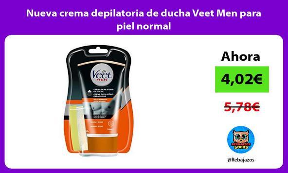 Nueva crema depilatoria de ducha Veet Men para piel normal
