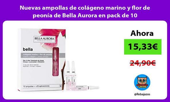 Nuevas ampollas de colágeno marino y flor de peonía de Bella Aurora en pack de 10