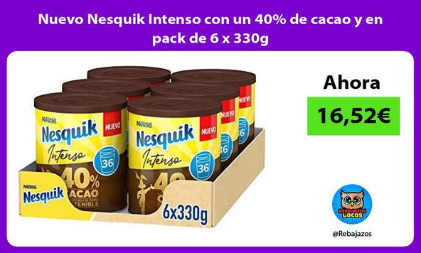 Nuevo Nesquik Intenso con un 40% de cacao y en pack de 6 x 330g