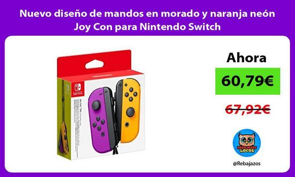 Nuevo diseño de mandos en morado y naranja neón Joy Con para Nintendo Switch