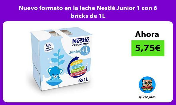Nuevo formato en la leche Nestlé Junior 1 con 6 bricks de 1L